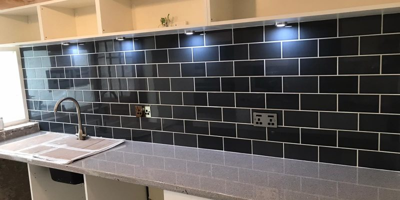 Kitching tiling in Anglesey